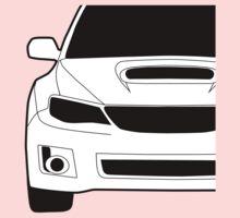 Subaru WRX STI Front Profile - Corner Sticker / Decal - White Kids Clothes