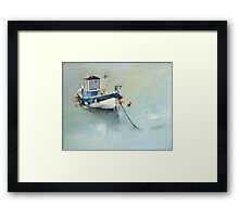 Seaton Rose and Gulls, Staithes Framed Print