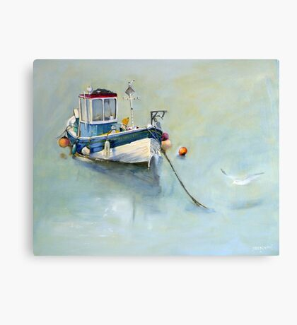 Seaton Rose and Gulls, Staithes Canvas Print