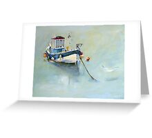 Seaton Rose and Gulls, Staithes Greeting Card