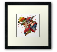 the crack ship  Framed Print