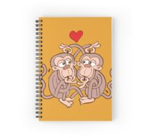 Monkeys Eating Lice and Falling in Love Spiral Notebook