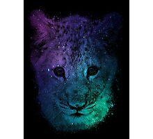 Galaxy Tiger Cub Print Photographic Print