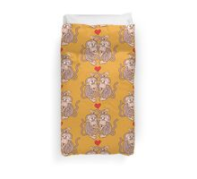 Monkeys Eating Lice and Falling in Love Duvet Cover