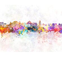 Jaipur skyline in watercolor background Photographic Print