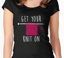 Get your knit on Women's Fitted Scoop T-Shirt