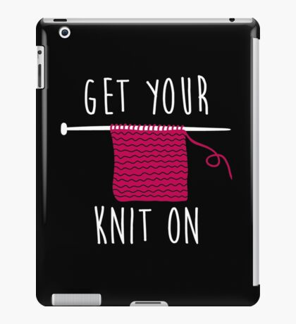 Get your knit on iPad Case/Skin