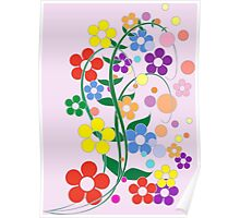 Flowers in spring colors. Poster