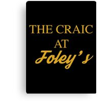 The Craic at Foley's – Mrs Brown's Boys inspired, Agnes Brown Canvas Print
