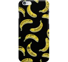The lads having fun writing on bananas :P iPhone Case/Skin