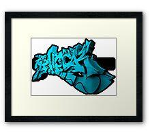 Graffiti SHOCK 3D (Blue) Framed Print