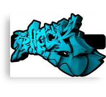Graffiti SHOCK 3D (Blue) Canvas Print