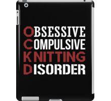 Obsessive, compulsive, knitting disorder iPad Case/Skin