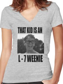 The Sandlot That Kid Is An L 7 Weenie Women's Fitted V-Neck T-Shirt
