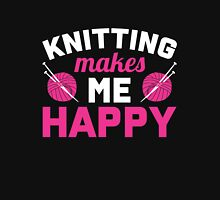 Knitting makes me happy Women's Fitted Scoop T-Shirt