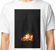 Warm fire in fireplace Classic T-Shirt