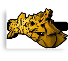 Graffiti SHOCK 3D (Yellow) Canvas Print