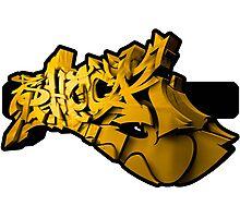 Graffiti SHOCK 3D (Yellow) Photographic Print