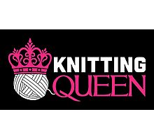 Knitting Queen Photographic Print