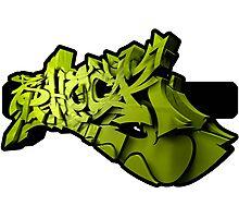 Graffiti SHOCK 3D (Green) Photographic Print
