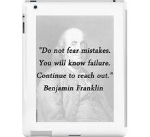 Franklin - Mistakes iPad Case/Skin