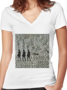 525,600 Minutes Metal Art - WIP Women's Fitted V-Neck T-Shirt