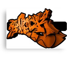 Graffiti SHOCK 3D (Orange) Canvas Print