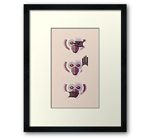 Ignore no evil Framed Print