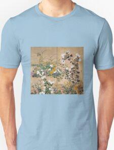 Ogata Korin Flowering Plants in Autumn T-Shirt