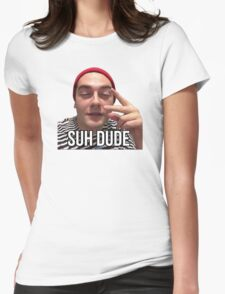 Suh Dude - Beanie Womens Fitted T-Shirt