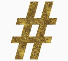 golden hashtag by koovox