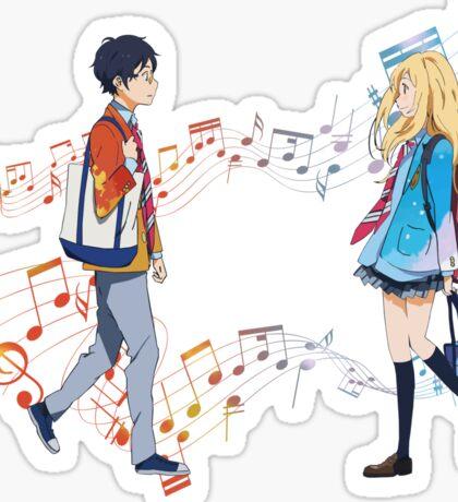 The sound of love - Shigatsu wa kimi no uso Sticker