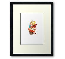 'Chicken hug' Framed Print