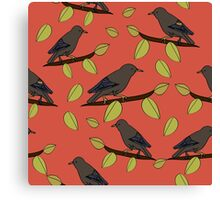 Starlings in Spring Canvas Print