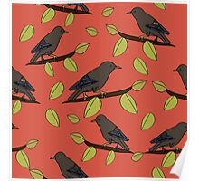 Starlings in Spring Poster