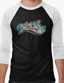 Graffiti SHOCK (Org. Color) Men's Baseball ¾ T-Shirt