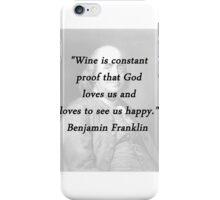 Franklin - Wine iPhone Case/Skin
