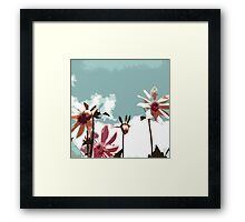 Towering Flowers - Abstract Framed Print