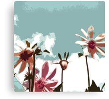 Towering Flowers - Abstract Canvas Print