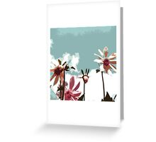 Towering Flowers - Abstract Greeting Card