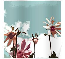 Towering Flowers - Abstract Poster