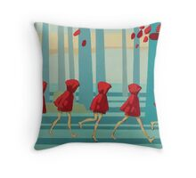 5 Lil Reds I Throw Pillow