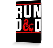 Run D & D Greeting Card