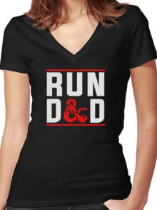 Run D & D Women's Fitted V-Neck T-Shirt