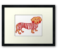 Sausage Dog Framed Print