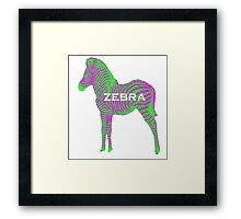 Zebra in Neon Framed Print