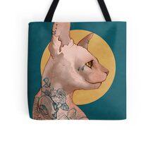 Tattoo Sphinx Cat Tote Bag