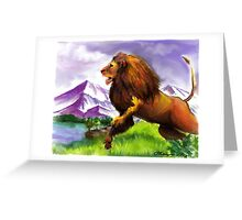 The Great Lion Greeting Card