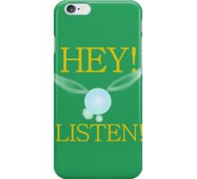 Hey, Listen! (in green) iPhone Case/Skin