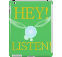 Hey, Listen! (in green) iPad Case/Skin